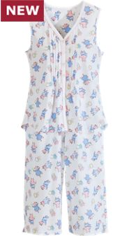 Lanz Sleeveless Summertime Pigs Pajamas