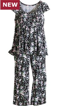 Eileen West Midnight Garden Pajamas