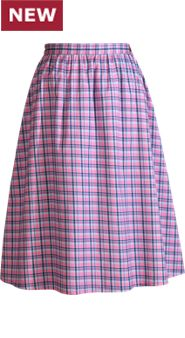 Lanz Plaid Skirt