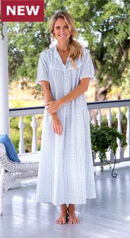 Lanz Tyrolean Cotton Lawn Nightgown