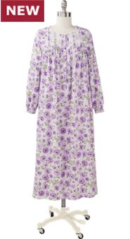 Eileen West Purple Passion Flannel Gown