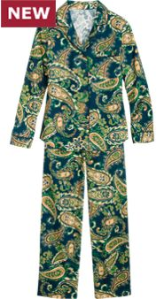 Regal Paisley Pajamas