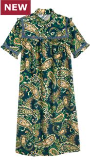 Regal Paisley Nightgown