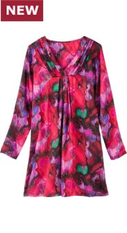 Watercolor Satin Nightshirt: