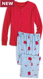 Men's Snoopy and Woodstock PJS