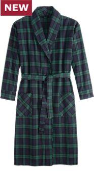 Men's Flannel Wrap Robe
