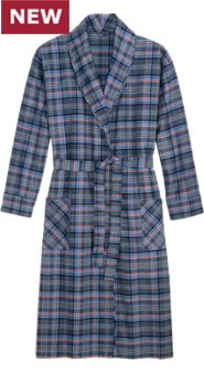 Orton Plaid Wrap Robe
