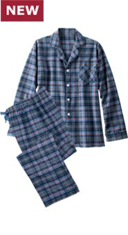 Orton Plaid Button-Front PJs