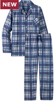 Men's Flannel Button-Front PJs