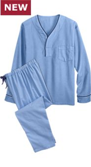 Men's Flannel Pullover PJs