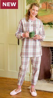 Women's Flannel Ski Pajamas