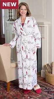 Women's Flannel Wrap Robe