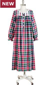 Women's Lanz Heart Dobby Flannel Nightgown