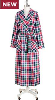 Women's Lanz Heart Dobby Flannel Robe
