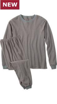 Men's Waffle-Knit Pajamas