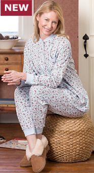 Women's Cotton Knit Ski Pajamas