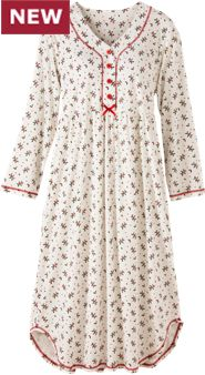 Women's Holly Berry Cotton Knit Nightgown