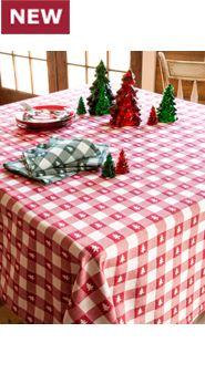 Lanz Christmas Tree Tablecloth