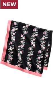 Women's Lanz Print Floral Scarf