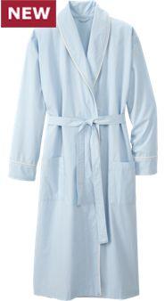 Men's Percale Wrap Robe