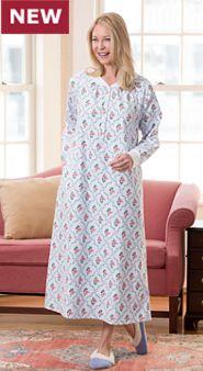 Womens Lanz of Salzburg Flannel Popover
