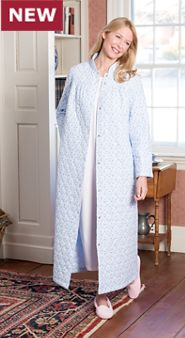 Womens Quilted Flannel Robe