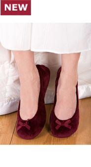 Velour Ballerina Flats