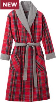 Womens Double Comfort Flannel Robe