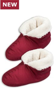 Mens and Womens Plush Bootie Slippers