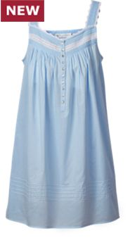 Womens Eileen West Blue Fields Chemise