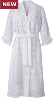Womens Eileen West Embroidered Robe