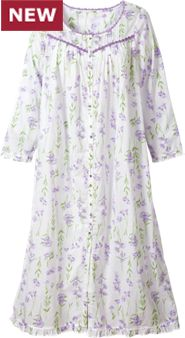 Womens Eileen West Lavender Floral Robe