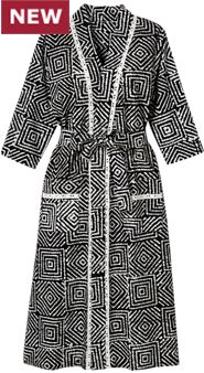 Womens Batik Printed Robe