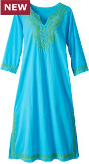 Womens Embroidered Caftan