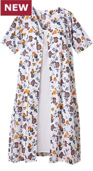 Womens Floral Print Nightgown and Nightie