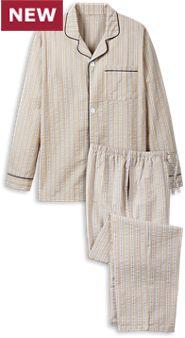 Mens Seersucker Pajamas