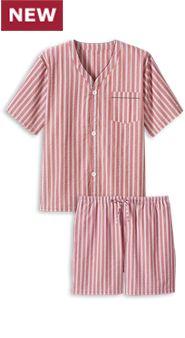 Mens Seersucker Shortie Pajamas