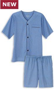 Mens Madras Shortie Pajamas