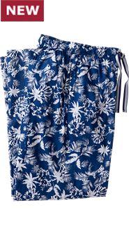 Mens Blue Hawaii Sleep Pants