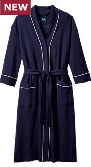 Mens Waffle Knit Kimono Robe