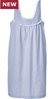 Womens Woven Nightgown With Bra Support