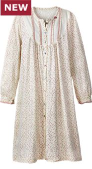 Womens Ditzy Floral Cotton Nightgown