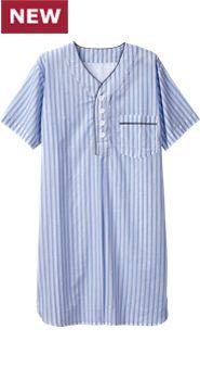 Mens Ultralight Cotton Voile Nightshirt