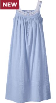 Womens Eileen West Swiss Dot Nightgown