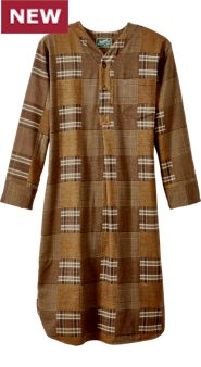 Pioneer Plaid Flannel Nightshirt