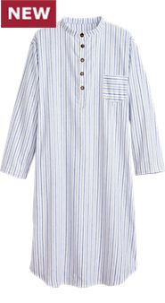 Flannel Grandfather Nightshirt