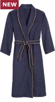 Mens Whipstitched Terry Robe