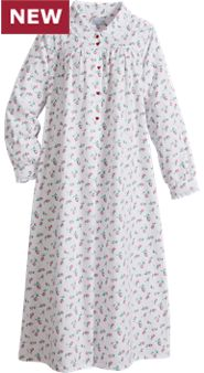 Lanz Red Rose Nightgown