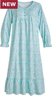 Happy Flowers Flannel Gown