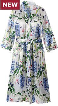 Floral Joy Satin Robe